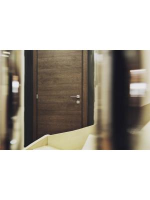 Porta interna laminatino Rovere kava da cm. 80 x 210 H battente spinta destra