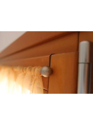Gancio per tenda senza fori Marrone, gancio per serramenti in PVC e legno sp. mm. 16/18