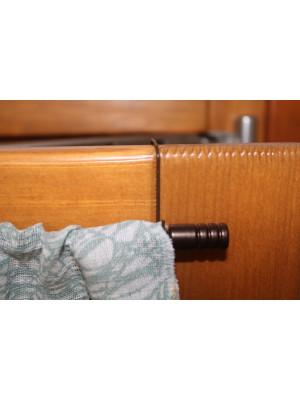Gancio Marrone per tende senza fori, per serramenti in PVC e legno sp. mm. 19/21